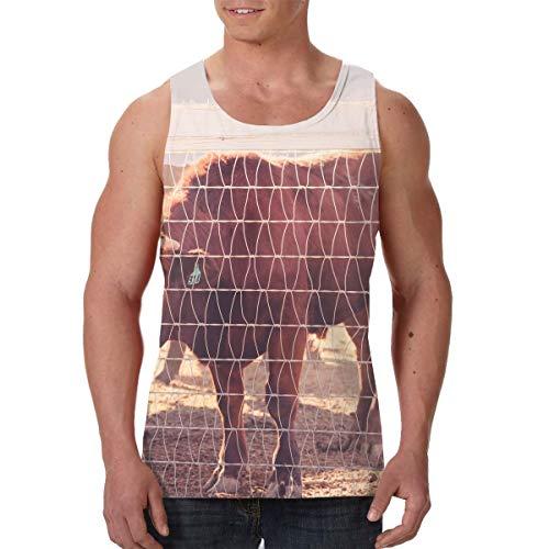 Men's Tank Tops Gym Vests Shirt Farm Cattles Bodybuilding Workout Vest -