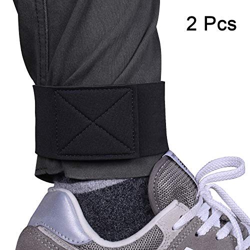 Wisdompro 1 Pair Neoprene Ankle Blousing Garters Trousers Boots Blousers Strap with Hook and Loop for Waders Fly Fishing Hunting Hiking Cycling Gardening Military Uniforms
