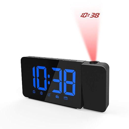 UR MAX BEAUTY Despertador De La Proyección para El Dormitorio - FM ...