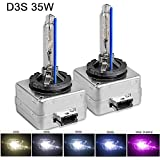 SOCAL-LED 2x D3S HID Bulbs 35W AC OEM Xenon Headlight Direct Replacement 6000K Crystal White