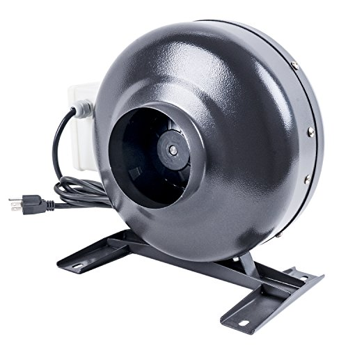 CastleGreens 4 Inch 190CFM Duct Inline Fan with 4'' Carbon Filter 8 Feet Ducting Combo for Grow Tent Ventilation by CastleGreens (Image #2)