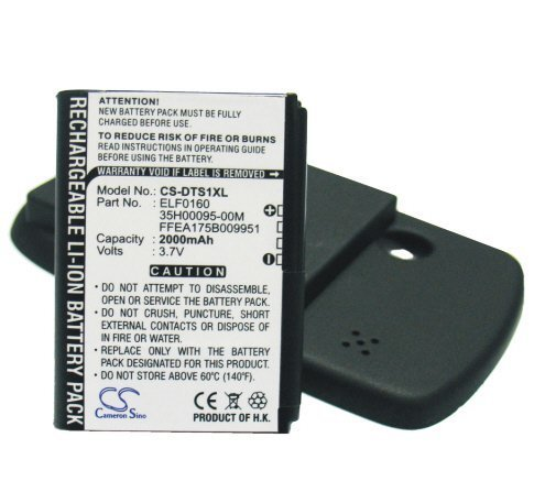 O2 Series Xda - 2000mAh Extended Battery fits Sprint Touch MP6900, Dopod Touch S1, UTStarcom MP6900, Vogue, HTC Touch P3050, P3450, HTC Elf, Vogue 100, O2 XDA Nova, i-mate Touch, T-Mobile MDA Touch, NTT DoCoMo FOMA HT1100 Series