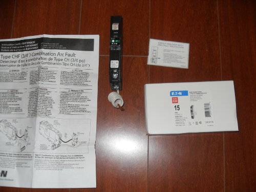 Cutler Hammer Single Pole AFCI Circuit Breaker by Eaton