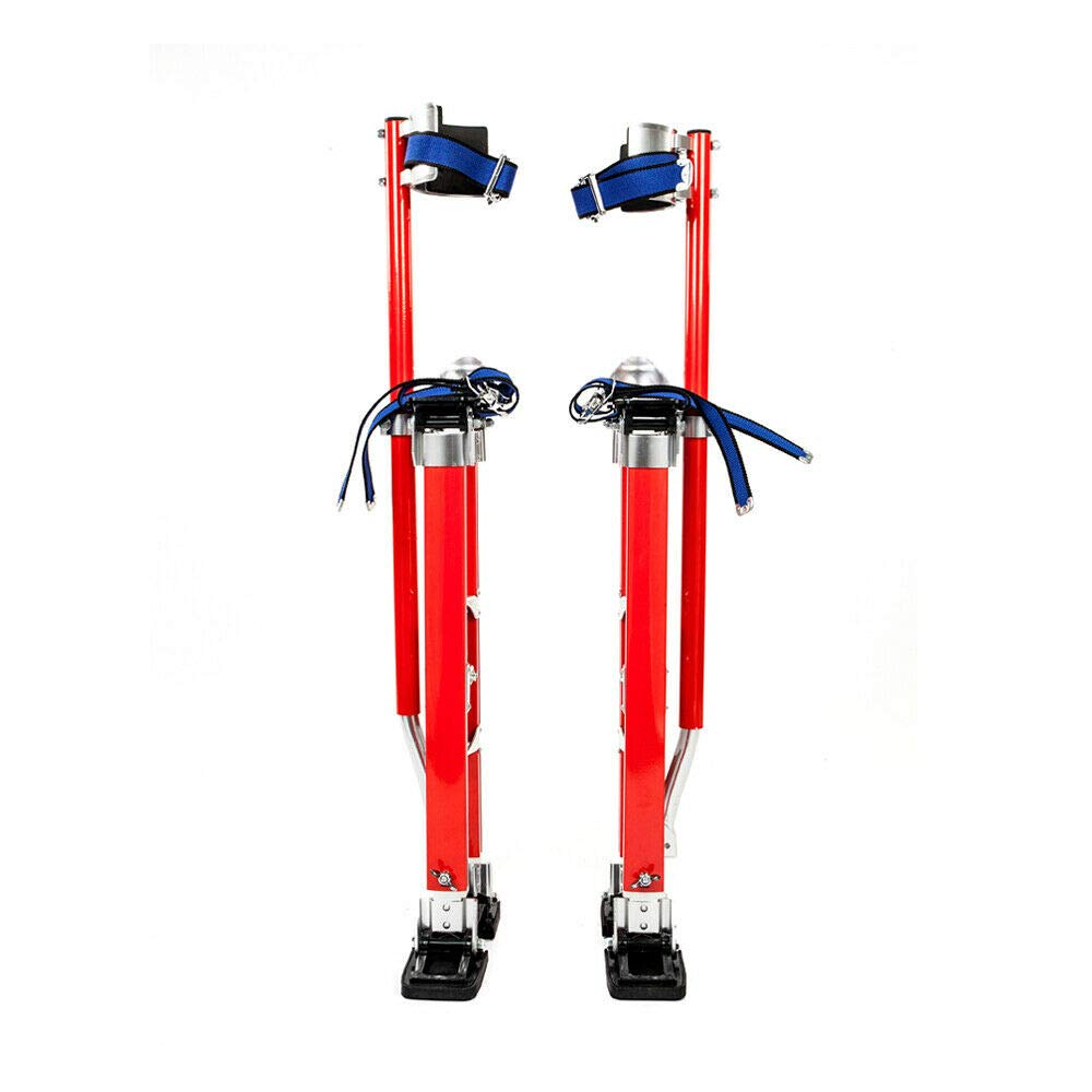 Adumly 24-40 Inch Drywall Stilts Aluminum Tool Painters Walking Taping Finishing Red
