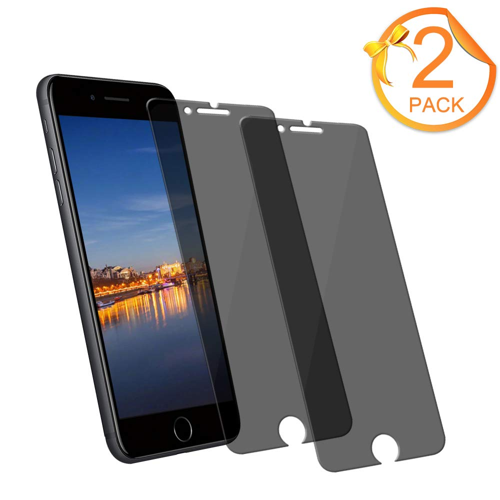 [2-Pack]Eastoan iPhone 8 Plus Tempered Glass Privacy Screen Protector [No bubbles][9H Hardness]For Apple iPhone 8 Plus and iphone 7 Plus Privacy