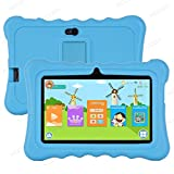Xgody T702 7 Inch Android Kids Tablet 1GB 16GB Storage Quad Core Android 8.1 with WiFi Dual Camera IPS Safety Eye Protection Screen and Parents Control Mode Kid-Proof Case (Blue)