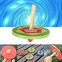 木製クラシックSmallジャイロpeg-topスピナーSpinning子供おもちゃギフト6cm
