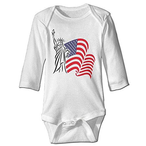 Fashion Baby Boys & Girls Statue Of Liberty And USA Flag Long-sleeve Romper - Vegas Las Fashion Island