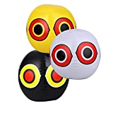 Seicosy (TM) Eye Bird Balloon, Pegion & Sparrow Deterrnet, Pack of 3(Yellow+Black+White) more tools