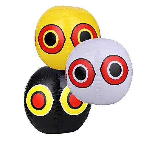 Seicosy (TM) Eye Bird Balloon, Pegion & Sparrow Deterrnet, Pack of 3(Yellow+Black+White) more tools (Scare Eye Balloon)