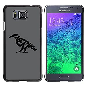 Planetar® ( NEVERMORE Raven ) Samsung GALAXY ALPHA G850 Fundas Cover Cubre Hard Case Cover