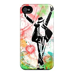 New Premium Flip Cases Covers Michael Jackson Skin Cases For Case Iphone 4/4S Cover