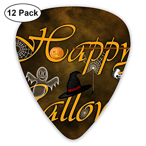 gahjdfxiaoning Trick Or Treat Witch And Pumpkins Happy Halloween Acoustic Guitar Pick Accessories Variety Pack