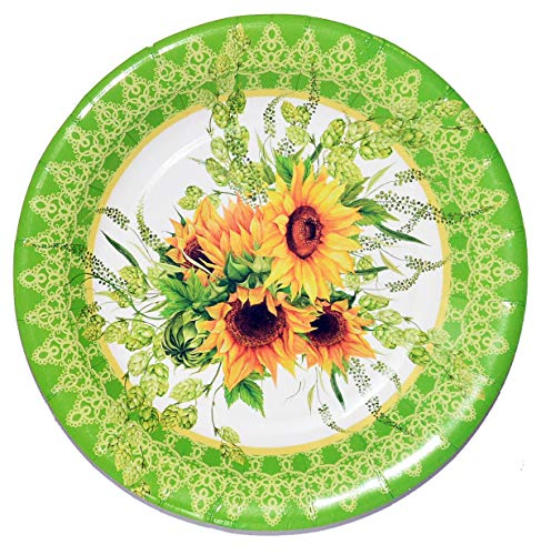 40 Sunflower Paper Plates, Decorative Party Plates Sunflower Party Decoration for Sunflower Wedding Birthday