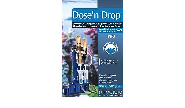 prodibio dosis n Drop dosificación por goteo sistema dosificador de arrecife de acuario marino arrecife Coral SPS LPS Salty tanque Tratamiento: Amazon.es: ...
