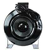 "Cheap PrimeGarden 8"" HIGH CFM Hydroponic Air Blower Inline Duct Fan for Hydroponics Indoor Grow Tent Ventilation System (Inline Fan, 8"")"