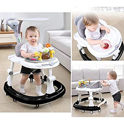 Olz Baby Walkers with Brake Folding, Anti-O-Leg Baby Walker,Anti-Rollover Walker, Height-Adjustable Baby Walker,Maximum Load 20 Kg,for Girls Boys 6-18Months Toddler,Fruit Green: Sports & Outdoors