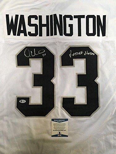 new products 079d4 82c92 Deandre Washington Signed Autographed Oakland Raiders Custom ...