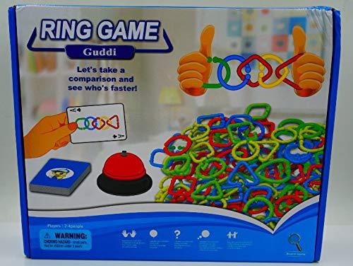 Guddi リングゲーム 子供または家族 屋内または屋外 楽しい(すべてのパーツが含まれています) B07H51RX7Z