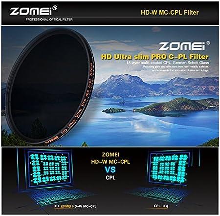 Zomei 67mm Filtro per lenti CIR-PL CPL polarizzatore circolare multistrato HD 18 strati Super Slim