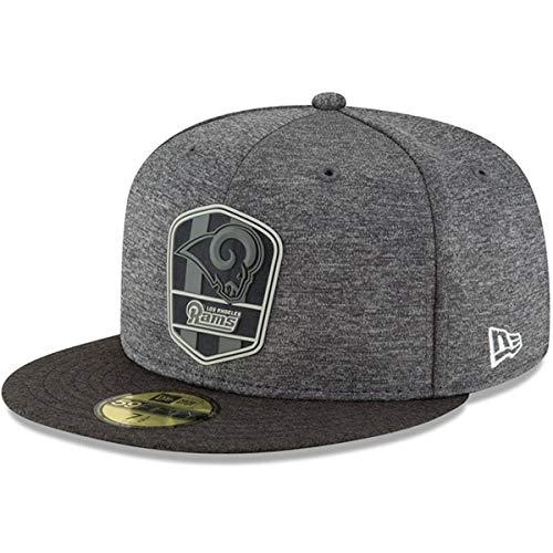まばたきリズムフェミニンニューエラ (New Era) 59フィフティ キャップ - ブラック サイドライン Los Angeles Rams