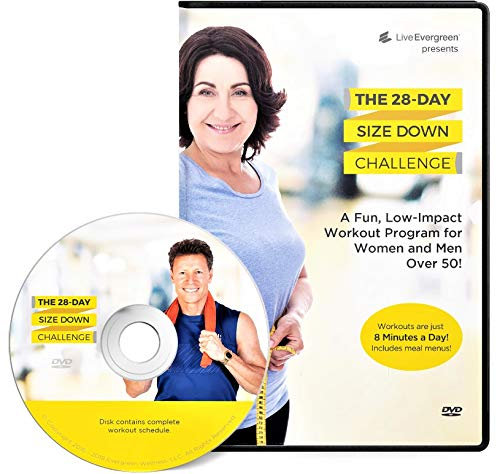 The 28 Day Size Down Challenge Workout DVD for Beginners and Seniors - Full Body, Low Impact Exercise and Fitness Program (Best Way To Increase Arm Muscle)