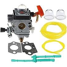 Hilom C1Q-S174 Carburetor with Primer Bulb Fuel Filter Line For STIHL FS87 FS90 FS100 FS110 FS130 HL90 HL95 HL100 HT100 HT101 KM90 KM100 KM110 SP90 Carb Trimmer 4180-120-0610 4180-120-0611
