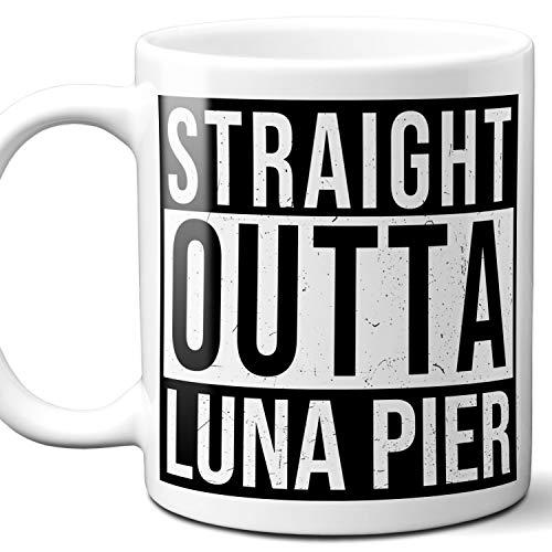 Luna Pier Cap - Straight Outta Luna Pier Souvenir Gift Mug. I Love City Town USA Lover Coffee Unique Tea Cup Men Women Birthday Mothers Day Fathers Day Christmas. 11 oz.