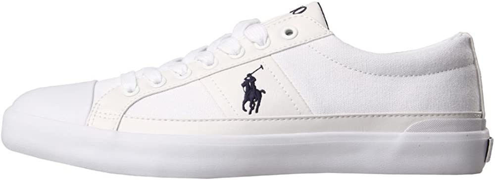 Ralph Lauren - Zapatillas de Tela para Hombre Blanco Weiß, Color ...