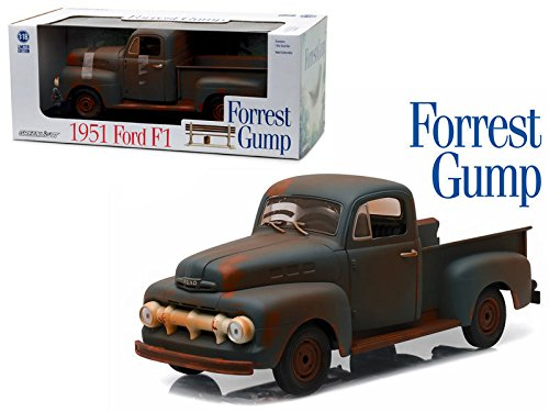 Ford Pickup F1 Truck - New 1:18 GREENLIGHT COLLECTION - FORREST GUMP - 1951 FORD F1 PICK UP TRUCK RUSTED Diecast Model Car By Greenlight