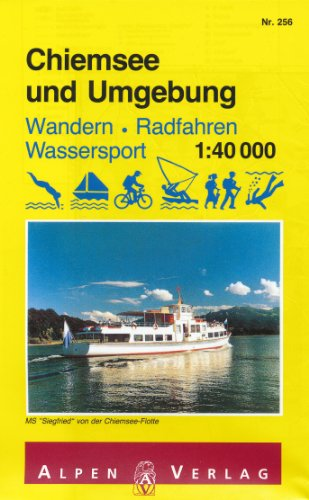 Chiemsee (Bavaria, Germany) 1:40,000 Recreation Map ALPENVERLAG