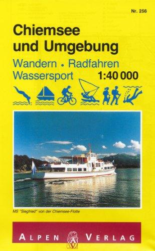 Chiemsee (Bavaria, Germany) 1:40,000 Recreation Map ALPENVERLAG