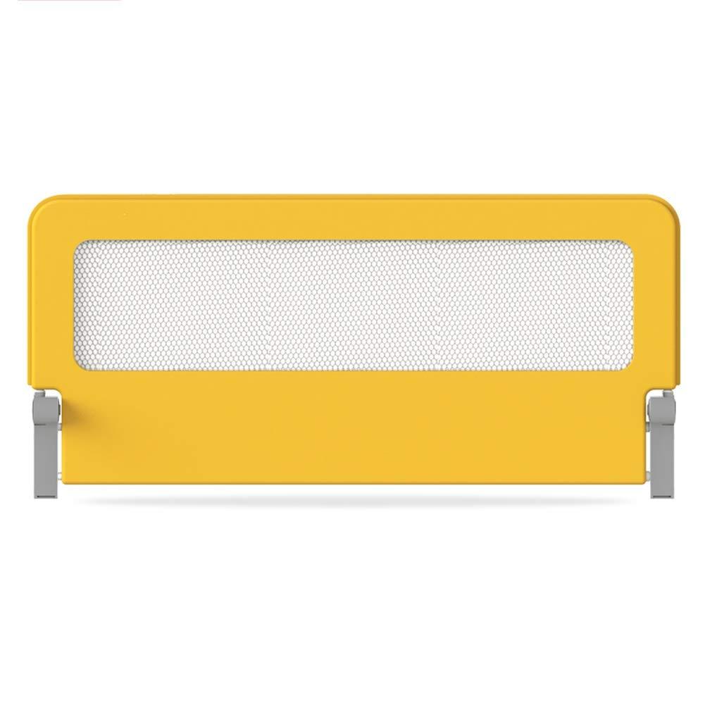 KKCF 子供用ベッドフェンス衝突防止折りたたみ取り外し可能掃除が簡単寝室鉄骨 、2色 4サイズ (色 : 黄, サイズ さいず : 150cm) 150cm 黄 B07R8QFQWH