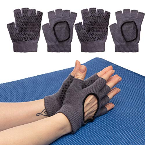 Zenzation (3 Pairs Yoga Gloves for Women Non Slip Grip for Pilates Fitness Fingerless Breathable