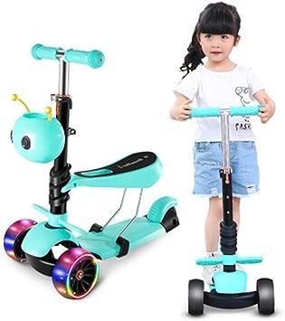 Andador para niños, Patinete de Tres Ruedas, patineta motorizada, Bicicleta-Blue: Amazon.es: Deportes y aire libre