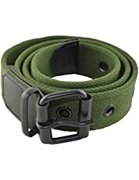 Men's Cotton Military Style Belt Green