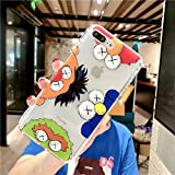 FLORENCE_XAVIA Fashion Cartoon Sesame Street KAWS Transparent Air Cushion Soft TPU Phone Cases for iPhone X/XR/XS Max 7 8 6S 6 Plus (38, for ip6Plus 6SPlus)