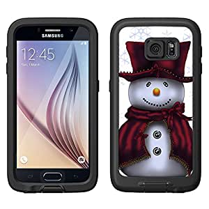 Skin Decal for LifeProof FRE Samsung Galaxy S6 Case - Snowman in Red on White
