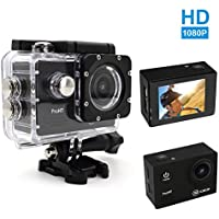ProHT 1080P HD Action Camera,Video Sport Camera (86302A)14MP Full HD 2.0 LTPS LCD Screen 30M Underwater Diving Camera ,Waterproof DV Camcorder,170 Degree Wide Angle Lens,900mAh Lithium Battery