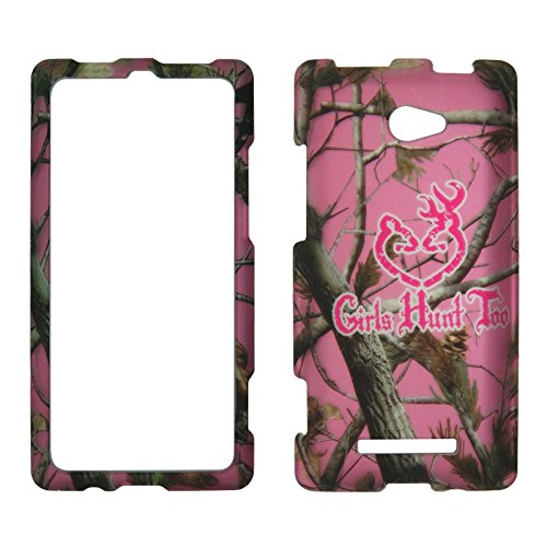 2D Pink Camo GHT HTC Windows Phone 8X / Accord / Zenith 6990 AT&T , T-Mobile , Verizon Hard Case Snap-on Hard Shell Protector Cover Phone Hard Case Case Cover Faceplates (Htc Verizon 8x)