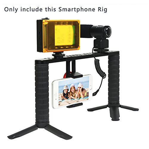 Smartphone Video Rig Stabilizer Handle SHIHONG Phone Video-making/Filmmaking Recording Vlogging Rig Case/Smartphone Grip Handle Rig/Filmmaker Grip for iPhone X/8/7/7 Plus/6/6 Plus, Samsung Galaxy S8 + by SHIHONG