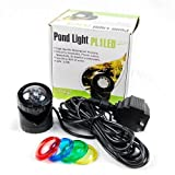 Single 12-LED Underwater Spot Light 4 Fountain Fish Pond 1.6W Energy Efficiency