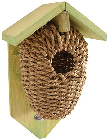 Esschert Design NKBS 26 x 15 x 10 cm madera Nesting bolsa de Alga - marrón