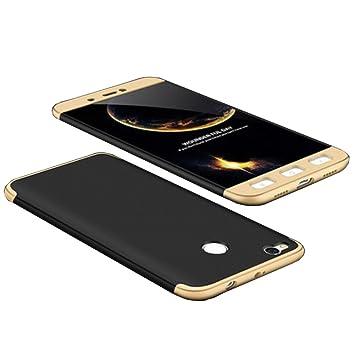 Funda Xiaomi Redmi 4X, 360 Grados Integral Carcasa Cuerpo Completo Caso Cubierta, 3 en 1 Híbrido Anti-Choque Snap On Case, Anti-Arañazos ...
