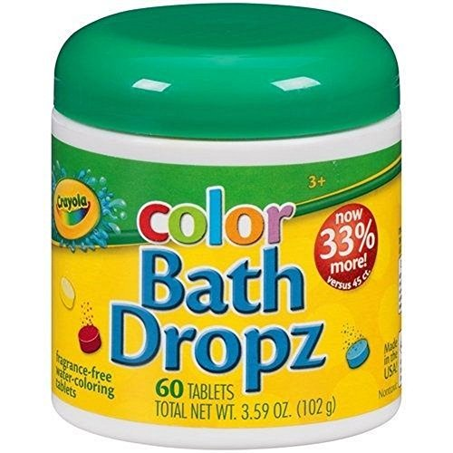 Crayola Color Bath Dropz 3.59 Ounce (60 Tablets) by Toys & Child