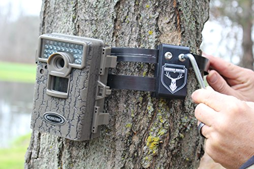 (Trail Camera Lock by Guardian - Game Cam Tree Mount Holder Accessory and Heavy Duty Metal Security Locking Strap To Replace Lockbox and Reduce Theft (48 inch Maxx 1 pack))