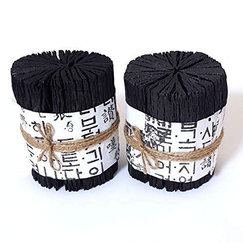 Jangsu Korea Oak White Charcoal, Natural Humidifier & Air Purifier, dehumidifier, Deodorizer, Odor Absorber Remover, Air Freshener (Pack of 2) 백탄, 참숯, 숯, 천연가습기, 탈취제 (Best Homemade Room Deodorizer)