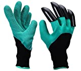 Garden Genie Gloves,OUNNE Genie Gloves With Claws for Digging & Planting (Claws on RIGHT Hand)