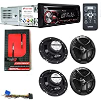 PIONEER DEH - X2800UI CAR DIGITAL STEREO CD PLAYER 2 JVC CS-J620 6.5 SPEAKER SETS AND CERWIN VEGA CUM2M6MIC AUDIO CABLE by PIO+KIT
