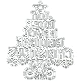 Merry X'Mas Cutting Dies Background Metal Cutting Dies Stencils for Card Making Decorative Embossing Suit Paper Cards Stamp DIY